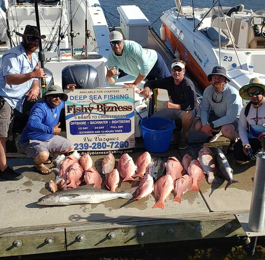 Red Snapper Haul | FishyBizness Fishing Charters & Boat Tours in Naples, Florida