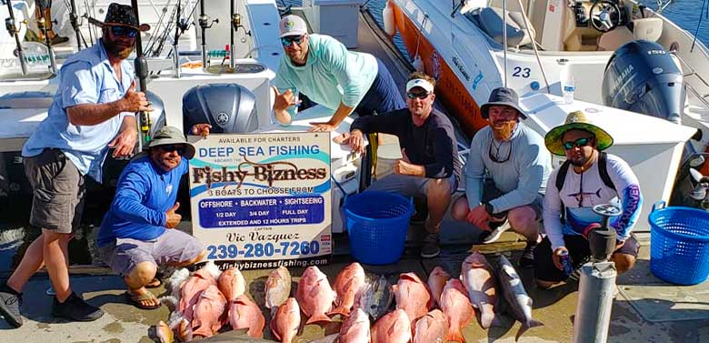 Red Snapper Deep Sea Fishing Charter | FishyBizness Fishing Charters & Boat Tours in Naples, Florida